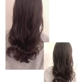 ヘアスタイル グレージュ パーマ デジタルパーマ ヘアスタイルや髪型の写真・画像