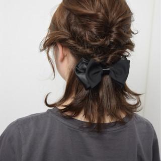 外国人風 ストリート 簡単ヘアアレンジ ブラウン ヘアスタイルや髪型の写真・画像