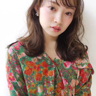 バレンタイン 前髪あり 大人かわいい 色気 ヘアスタイルや髪型の写真・画像