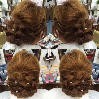 結婚式 ロング 女子会 エレガント ヘアスタイルや髪型の写真・画像