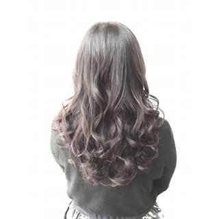 グラデーションカラー ゆるふわ ロング ガーリー ヘアスタイルや髪型の写真・画像
