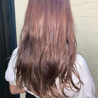 ハイトーン ハイトーンカラー ブリーチカラー ロング ヘアスタイルや髪型の写真・画像