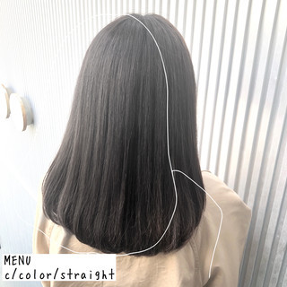 グレージュ 髪質改善 ナチュラル 縮毛矯正 ヘアスタイルや髪型の写真・画像