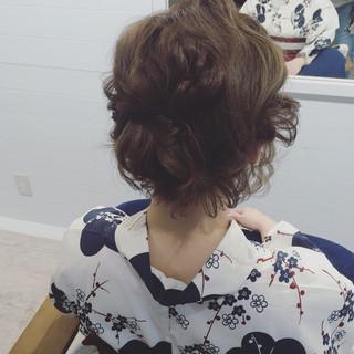 ヘアアレンジ ナチュラル ハーフアップ フェミニン ヘアスタイルや髪型の写真・画像