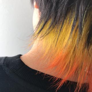 モード インナーカラー ウルフカット ショート ヘアスタイルや髪型の写真・画像