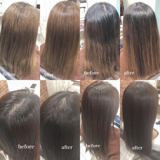 TOKIOトリートメント ヘッドスパ 頭皮ケア セミロング ヘアスタイルや髪型の写真・画像