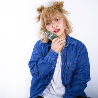 簡単ヘアアレンジ ヘアアレンジ ミディアム ハーフアップ ヘアスタイルや髪型の写真・画像