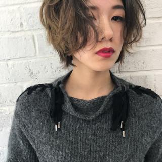 モード ショート オフィス デート ヘアスタイルや髪型の写真・画像