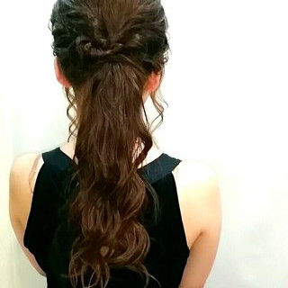 ヘアアレンジ フェミニン 大人かわいい ロング ヘアスタイルや髪型の写真・画像