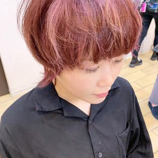 ショートヘア ハンサムショート 小顔ショート マッシュショート ヘアスタイルや髪型の写真・画像