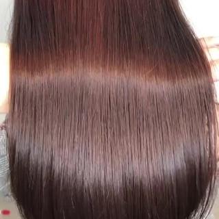 髪質改善カラー トリートメント ツヤ髪 セミロング ヘアスタイルや髪型の写真・画像