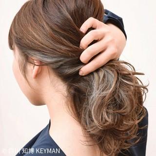 ヘアアレンジ ショート インナーカラー 大人女子 ヘアスタイルや髪型の写真・画像