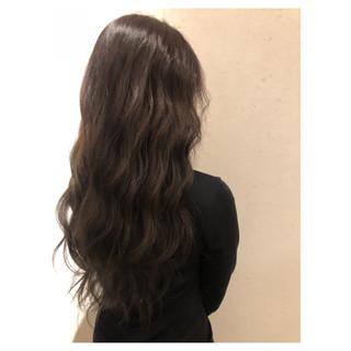 ナチュラル ロング 大人女子 3Dカラー ヘアスタイルや髪型の写真・画像