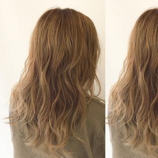 パーマ アンニュイ リラックス セミロング ヘアスタイルや髪型の写真・画像