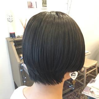 ショートボブ 春 ショート モード ヘアスタイルや髪型の写真・画像