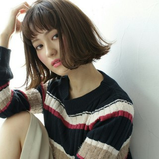 ミディアム 外国人風 色気 外ハネ ヘアスタイルや髪型の写真・画像