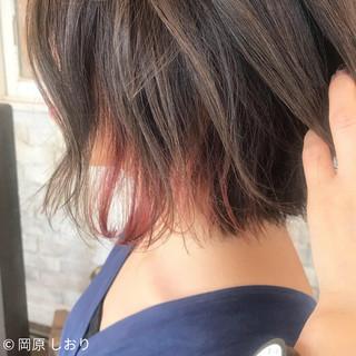 ヘアアレンジ ブリーチ インナーカラー 外国人風カラー ヘアスタイルや髪型の写真・画像