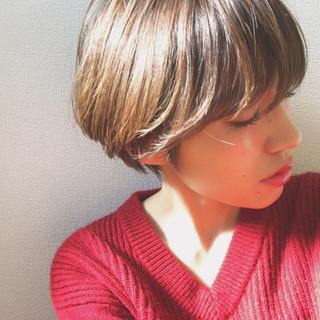 ショート 愛され ナチュラル 似合わせ ヘアスタイルや髪型の写真・画像