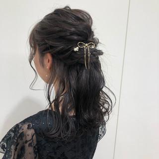 オフィス 成人式 デート セミロング ヘアスタイルや髪型の写真・画像