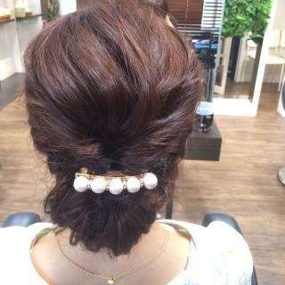 コンサバ パーティ ヘアアレンジ ディズニー ヘアスタイルや髪型の写真・画像
