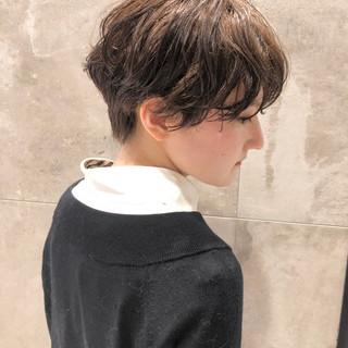 ナチュラル ショートヘア ショートボブ パーマ ヘアスタイルや髪型の写真・画像