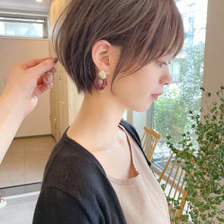 ミニボブ ショートボブ インナーカラー ショートヘア ヘアスタイルや髪型の写真・画像