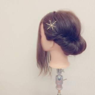 ショート コンサバ 簡単ヘアアレンジ ヘアアレンジ ヘアスタイルや髪型の写真・画像