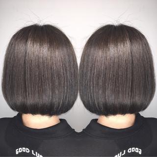 外国人風 オフィス ボブ アッシュ ヘアスタイルや髪型の写真・画像