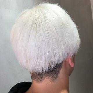 ホワイト ショート ストリート ホワイトブリーチ ヘアスタイルや髪型の写真・画像