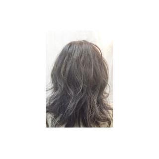 外国人風 アッシュ ナチュラル ミディアム ヘアスタイルや髪型の写真・画像