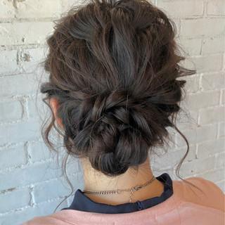 ヘアアレンジ 結婚式 シニヨン ゆるふわ ヘアスタイルや髪型の写真・画像