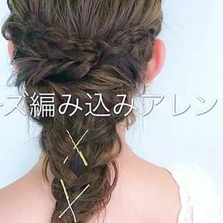 セミロング エレガント フェミニン 結婚式 ヘアスタイルや髪型の写真・画像
