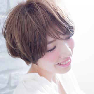ナチュラル ショート マッシュ モテ髪 ヘアスタイルや髪型の写真・画像