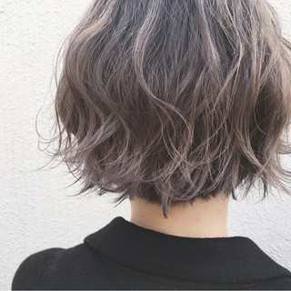 透明感 外国人風カラー ストリート ラベンダーアッシュ ヘアスタイルや髪型の写真・画像