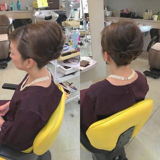 デート 結婚式 ヘアアレンジ 上品 ヘアスタイルや髪型の写真・画像