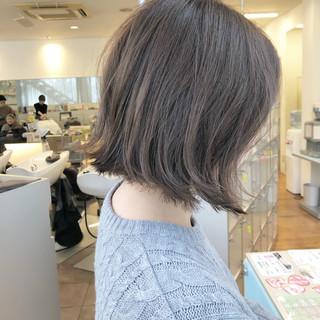 透明感 ボブ アンニュイほつれヘア ナチュラル ヘアスタイルや髪型の写真・画像