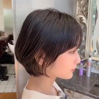 ショート ショートボブ 横顔美人 ショートヘア ヘアスタイルや髪型の写真・画像