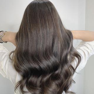 大人かわいい ハイライト モテ髪 ロング ヘアスタイルや髪型の写真・画像