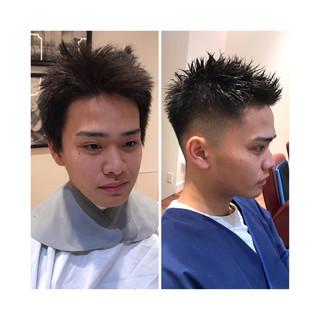 オフィス メンズヘア 刈り上げ ナチュラル ヘアスタイルや髪型の写真・画像