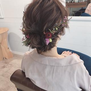 ミディアム 結婚式 謝恩会 デート ヘアスタイルや髪型の写真・画像
