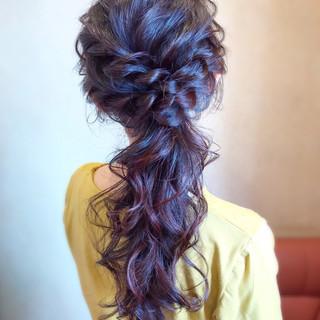 ロング 結婚式 ヘアアレンジ エレガント ヘアスタイルや髪型の写真・画像