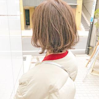 デート 大人かわいい ボブ アンニュイほつれヘア ヘアスタイルや髪型の写真・画像