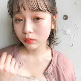 ミニボブ 簡単ヘアアレンジ ボブ ナチュラル ヘアスタイルや髪型の写真・画像