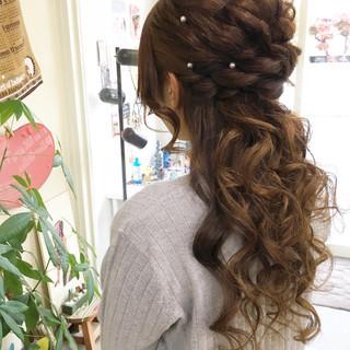 フェミニン ロング パーティ ラフ ヘアスタイルや髪型の写真・画像