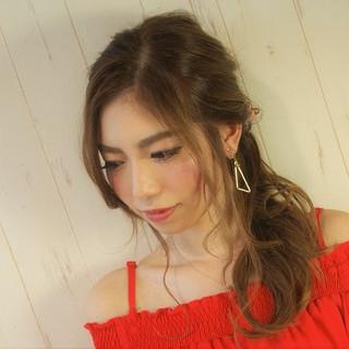 デート ヘアアレンジ 夏 ロング ヘアスタイルや髪型の写真・画像