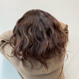 春 エレガント ロング ラベンダーカラー ヘアスタイルや髪型の写真・画像