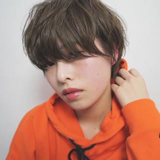 フリンジバング ショート パーマ 小顔 ヘアスタイルや髪型の写真・画像