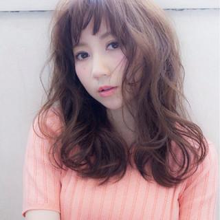 コンサバ 前髪あり 大人かわいい フェミニン ヘアスタイルや髪型の写真・画像