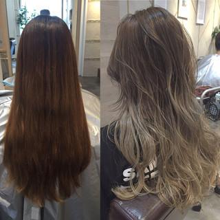 ストリート ハイライト グラデーションカラー 渋谷系 ヘアスタイルや髪型の写真・画像