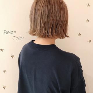 切りっぱなしボブ ミニボブ ハイライト ボブ ヘアスタイルや髪型の写真・画像